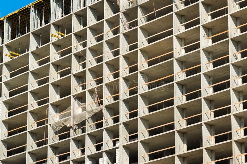 Construcción del edificio residencial monolítico en Moscú, Rusia foto de archivo libre de regalías