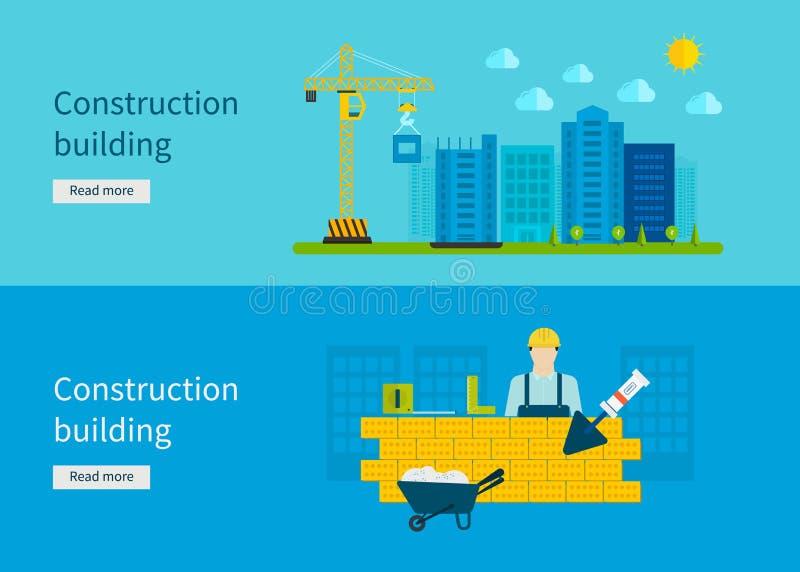 Construcción del edificio vector del concepto ilustración del vector