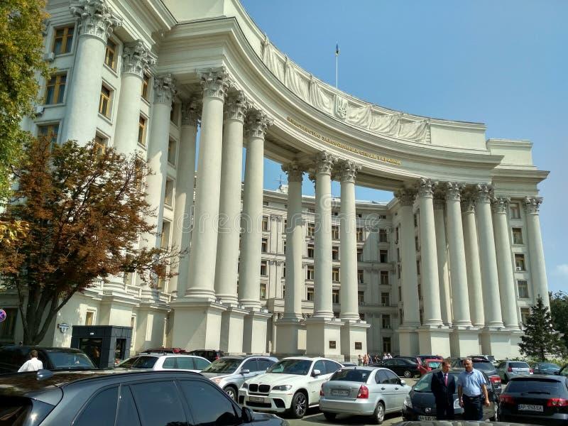 Construcción del Ministerio de Asuntos Exteriores en Kiev fotos de archivo