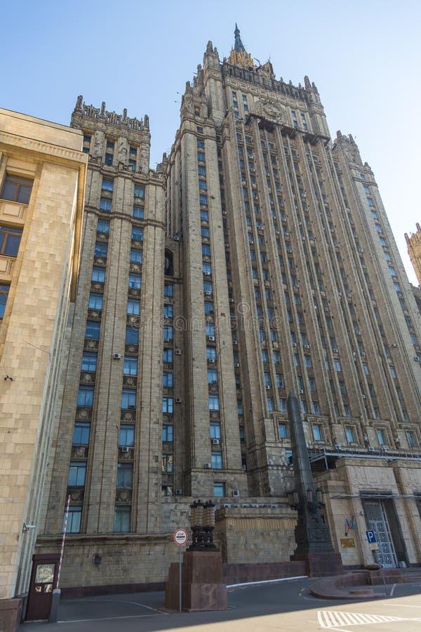 Construcción del Ministerio de Asuntos Exteriores, Moscú, Rusia fotografía de archivo