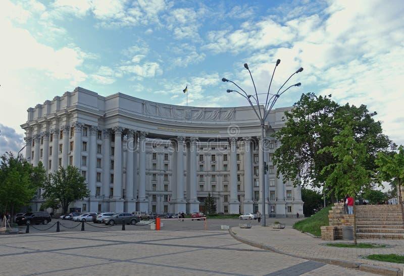 Construcción del Ministerio de Asuntos Exteriores de Ucrania en Kiev fotografía de archivo