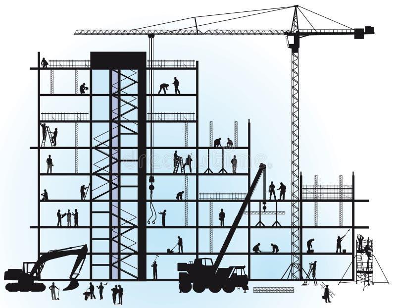 Construcción del Ne ilustración del vector