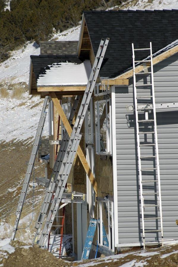Construcción del nuevo hogar fotografía de archivo