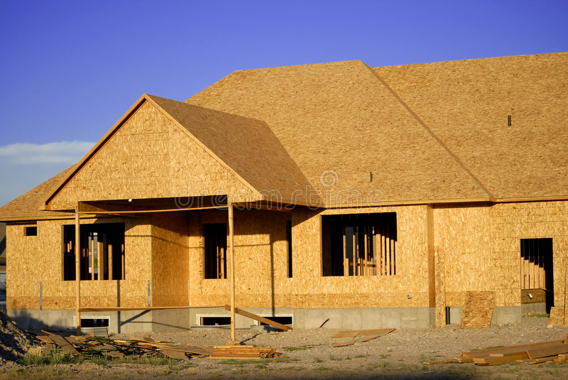 Construcción del nuevo hogar foto de archivo