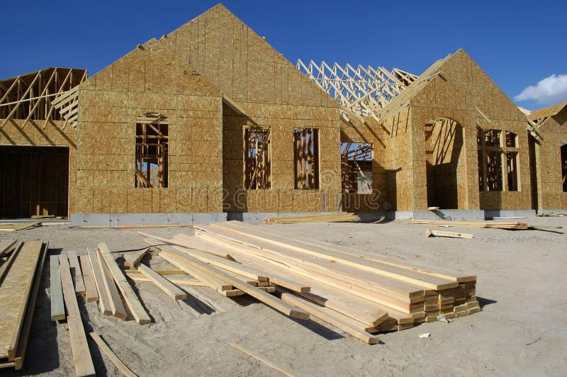 Construcción del nuevo hogar fotos de archivo