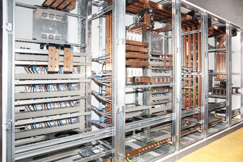 Construcción del panel eléctrica imagen de archivo libre de regalías