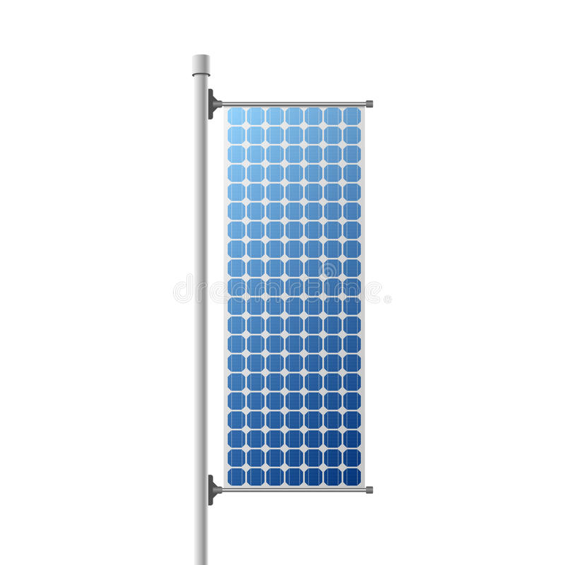 Construcción del panel solar ilustración del vector