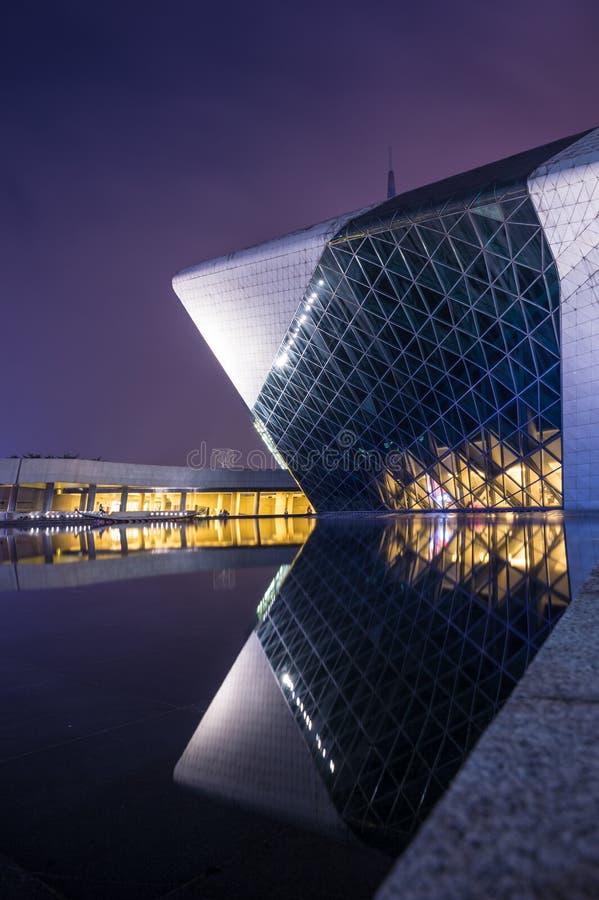 Construcción del teatro de la ópera de Guangzhou fotos de archivo
