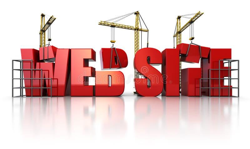 Construcción del Web ilustración del vector