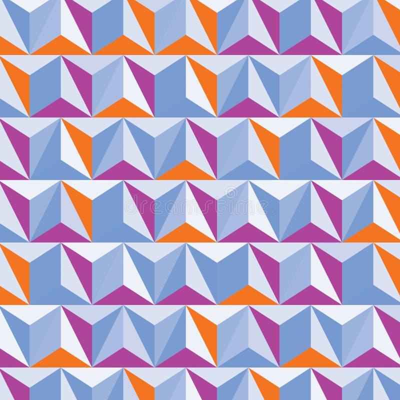 Construcción digital moderna, ingenio dimensional abstracto del fondo stock de ilustración