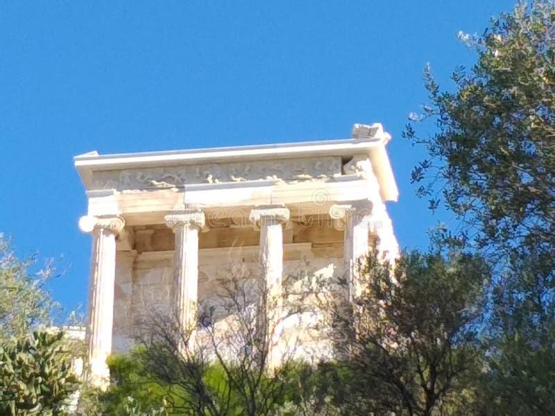 Construcción en akropolos foto de archivo libre de regalías