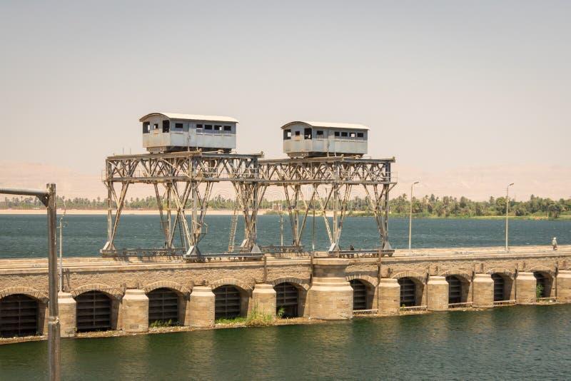 Construcción en el río Nilo Egipto En abril de 2019 foto de archivo libre de regalías