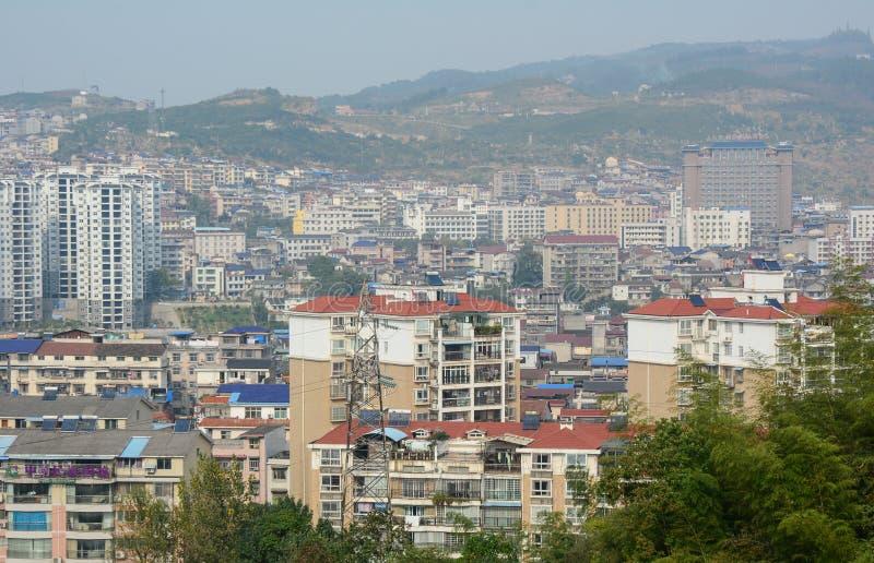 Construcción en las cercanías de Kunming fotos de archivo