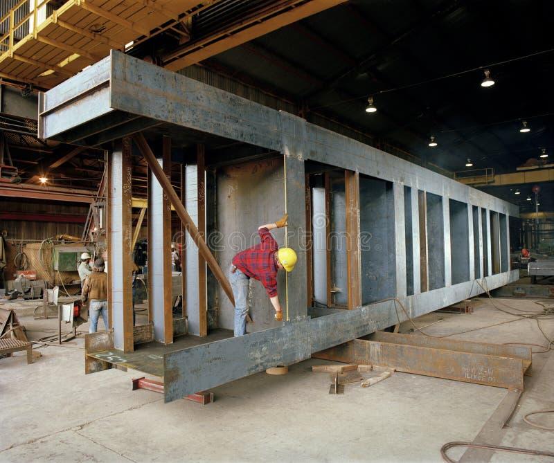 Construcción: Fabricación de acero imagenes de archivo