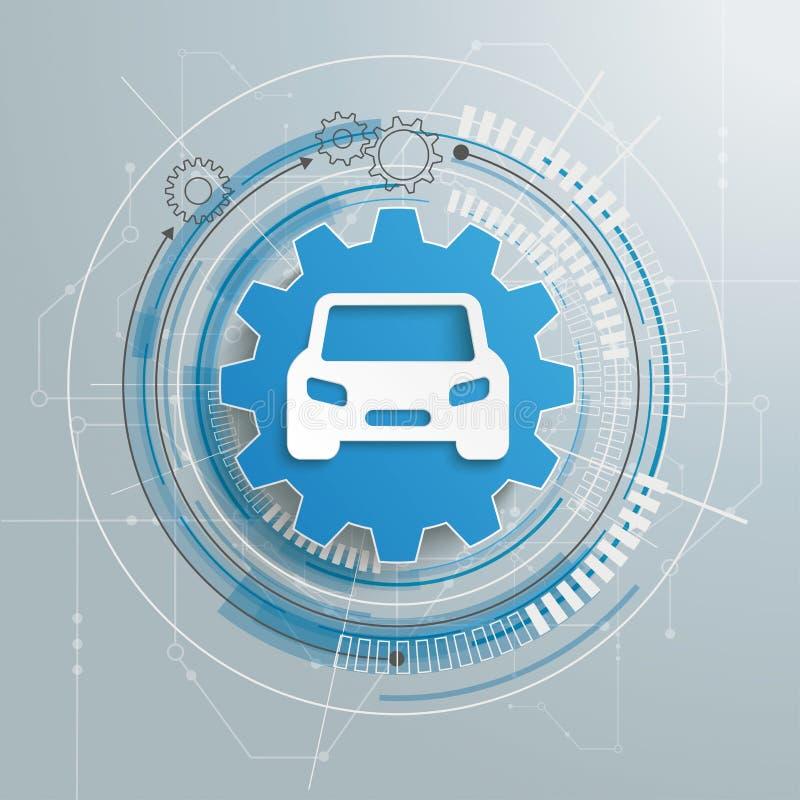 Construcción futurista de CarTechnology del engranaje libre illustration