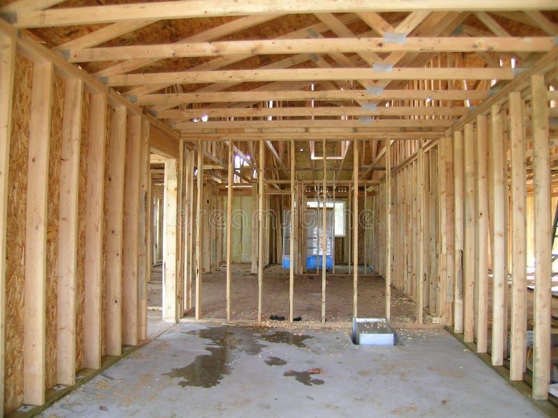 Construcción - garage enmarcado fotografía de archivo