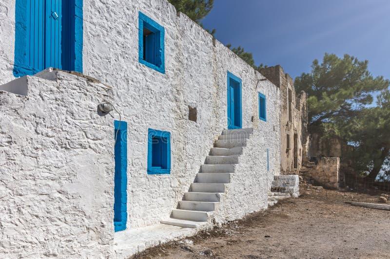 Construcción griega de los colores foto de archivo libre de regalías