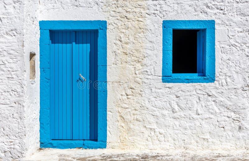 Construcción griega de los colores fotos de archivo libres de regalías