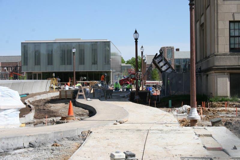 Construcción 2019 III del campus imagen de archivo