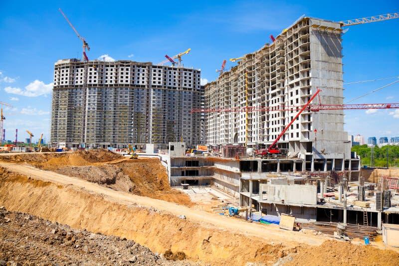 Construcción importante del complejo residencial fotografía de archivo libre de regalías