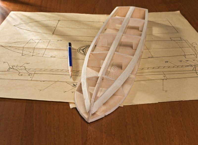 Construcción modelo de escala de la nave foto de archivo libre de regalías