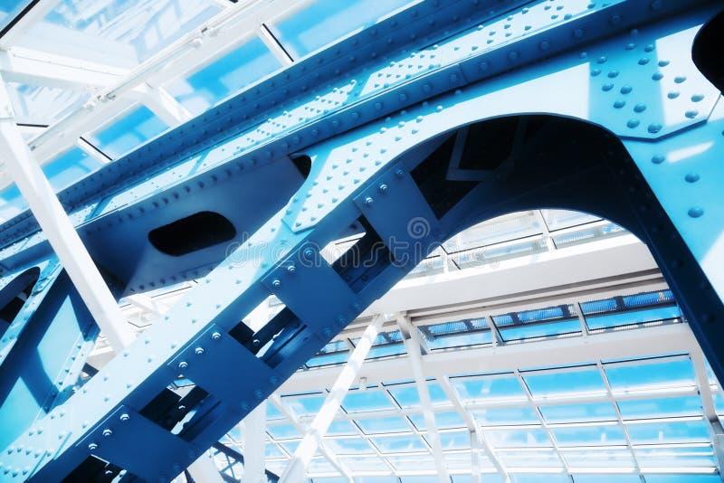 Construcción moderna abstracta foto de archivo