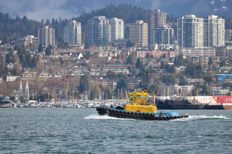 Construcción naval marítima en Vancouver, Canadá fotos de archivo