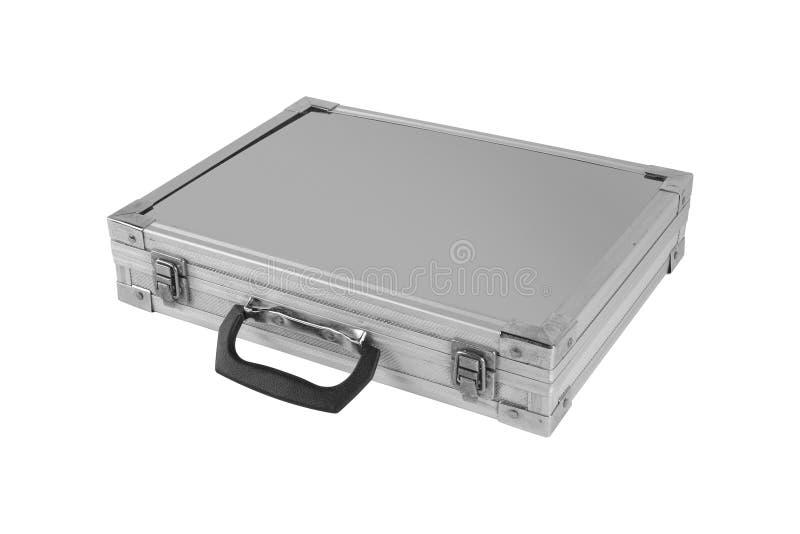 Construcción, reparación, herramientas - caja gris para las herramientas aisladas fotos de archivo libres de regalías