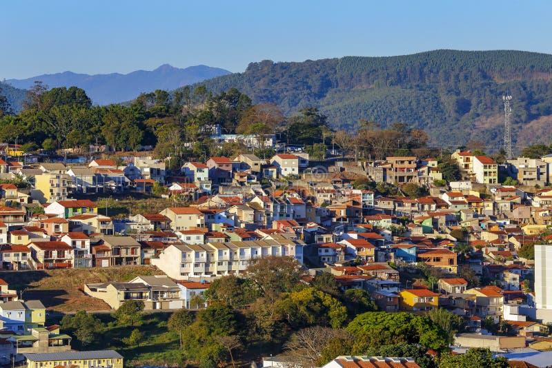 Construcción residencial popular, el Brasil imagen de archivo