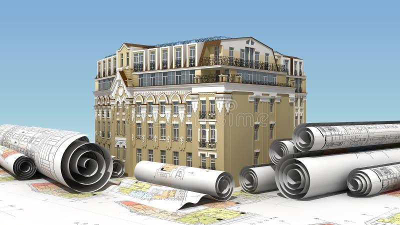 Construcción urbana de la élite libre illustration