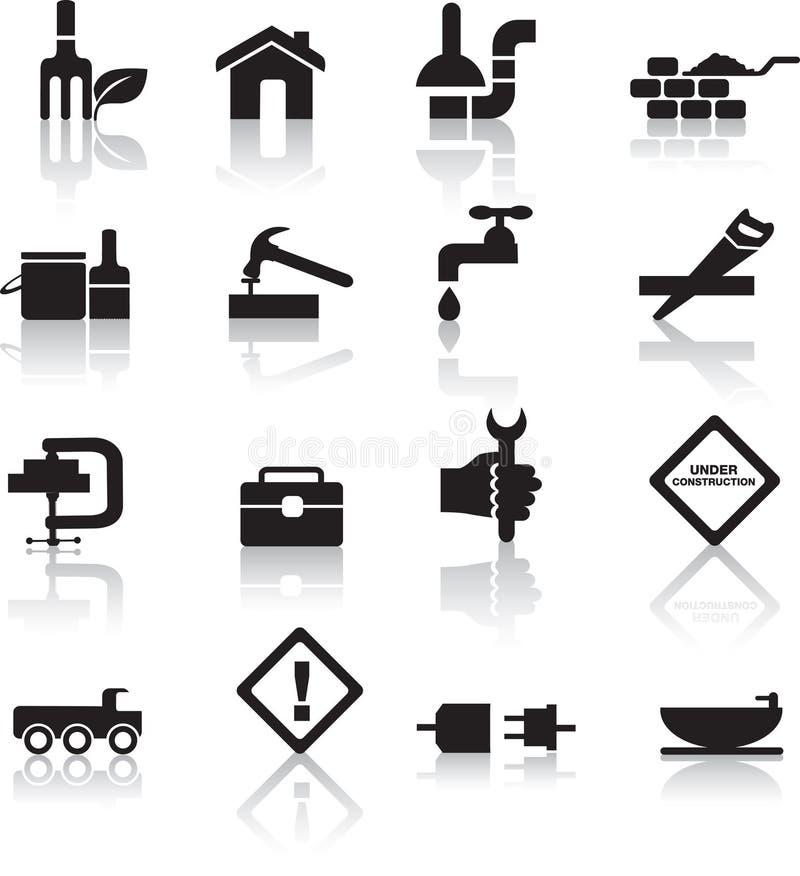 Construcción y conjunto diy del icono libre illustration