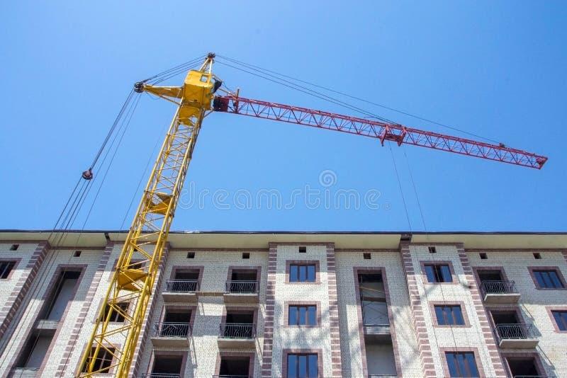Construcci?n del nuevo edificio foto de archivo