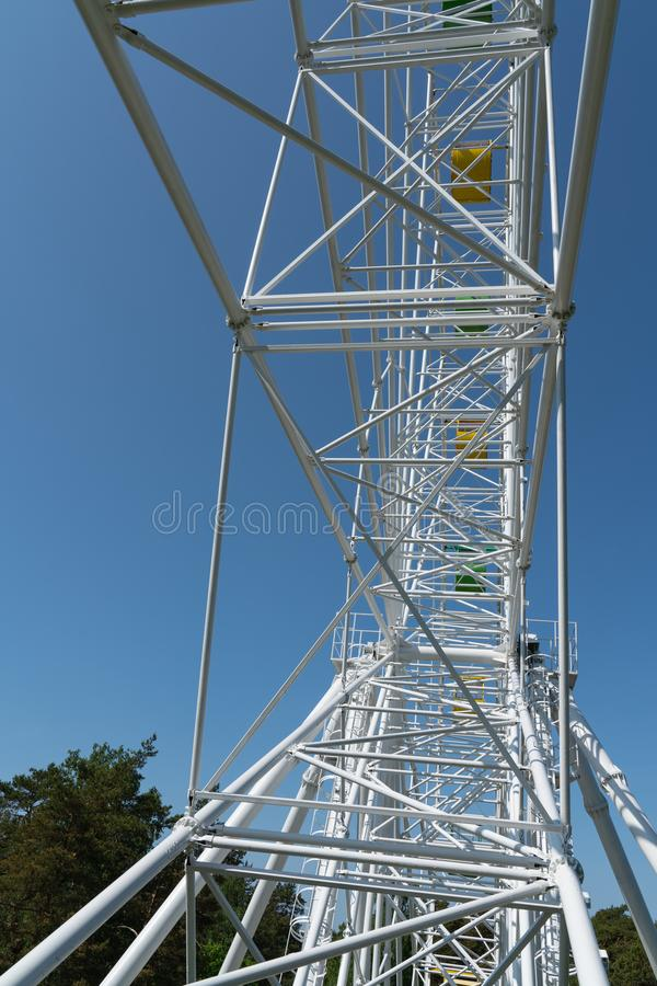 Construcci?n moderna del modelo de la estructura del metal del detalle de la arquitectura imagenes de archivo
