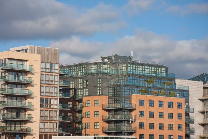 Construcciones de viviendas Dublín imágenes de archivo libres de regalías
