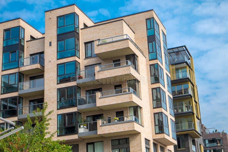 Construcciones de viviendas en Hamburgo fotografía de archivo