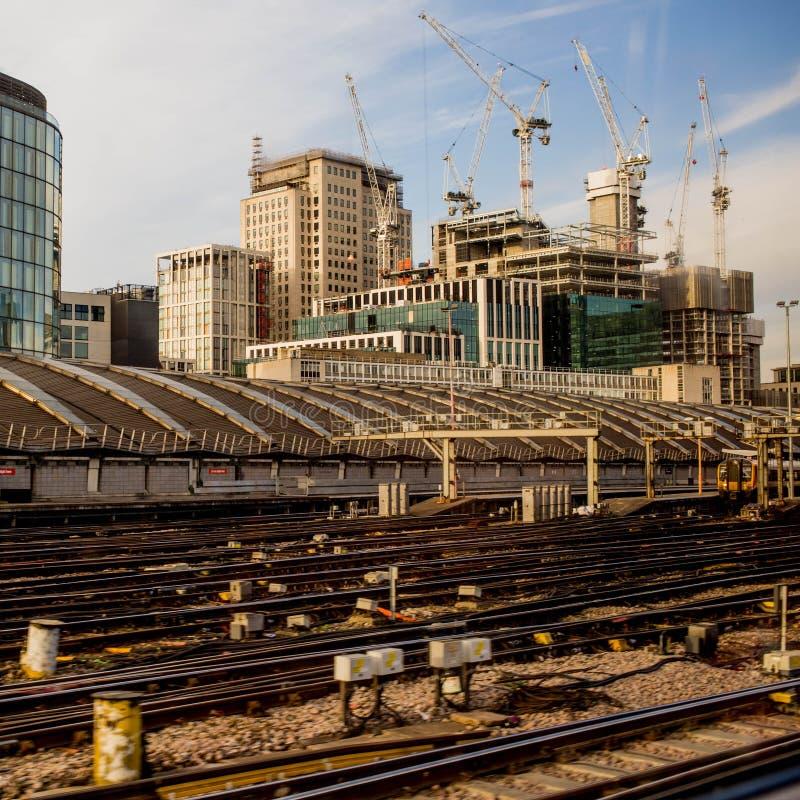 Construcciones en Londres fotografía de archivo libre de regalías