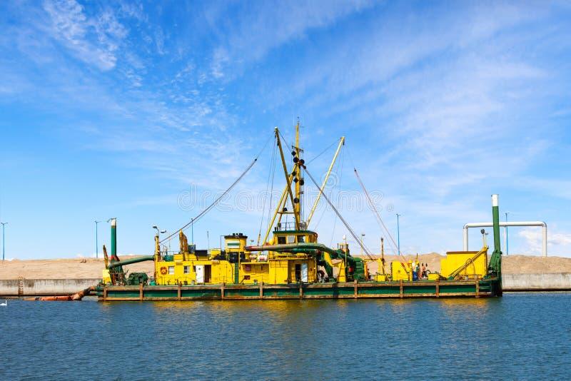 Construcionplaats in Haven stock foto