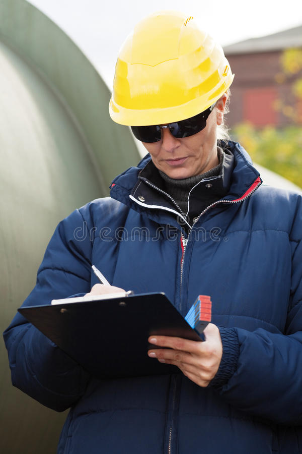 Download Construciton Engineer Taking Notes Stock Image - Image: 11517105
