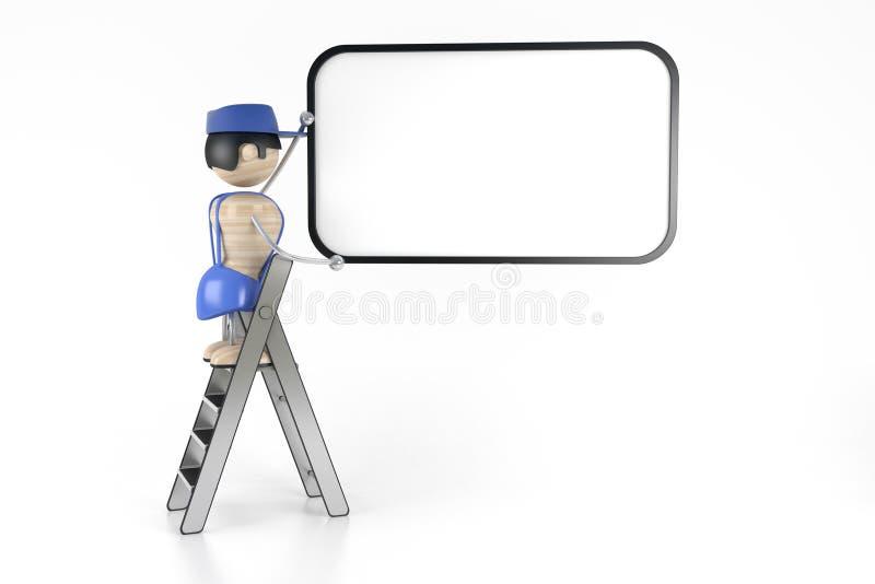 Constructeur illustration libre de droits