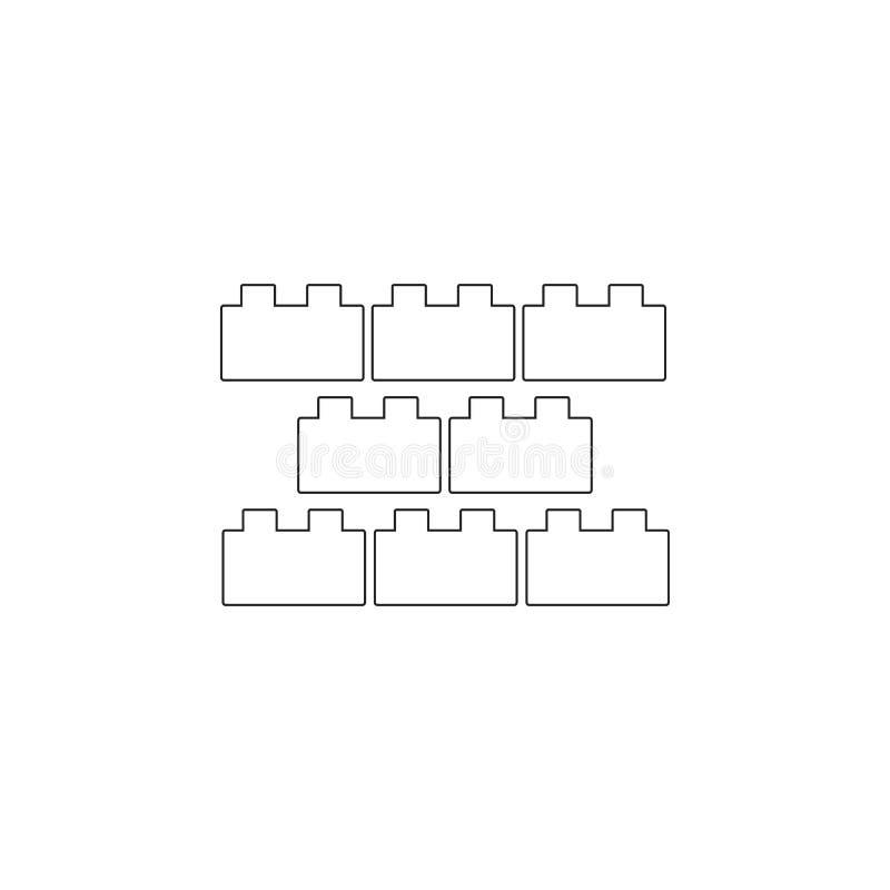 constructeur, bloc constitutif, icône Icône d'élément de jouet Icône de la meilleure qualité de conception graphique de qualité S illustration de vecteur