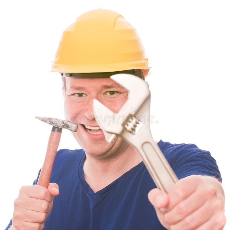 Constructeur désireux photographie stock