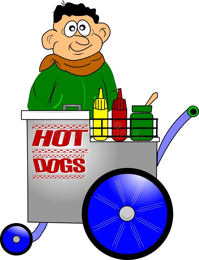 Constructeur de hot-dog illustration stock