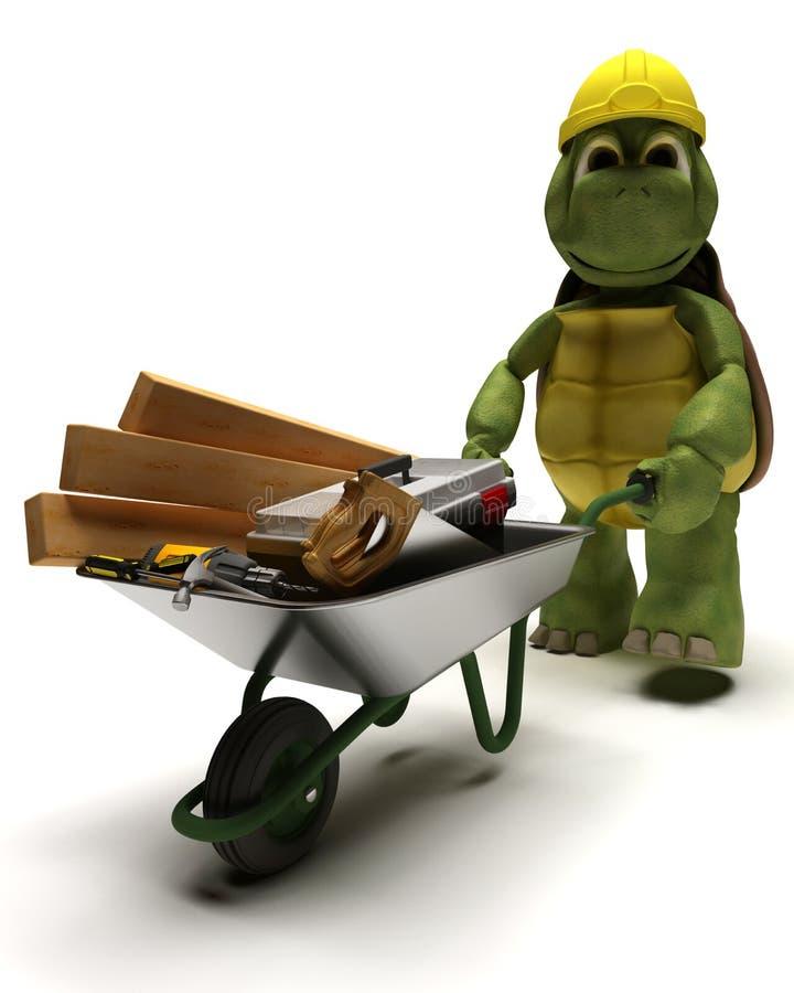 Constructeur de tortue avec des outils illustration libre de droits