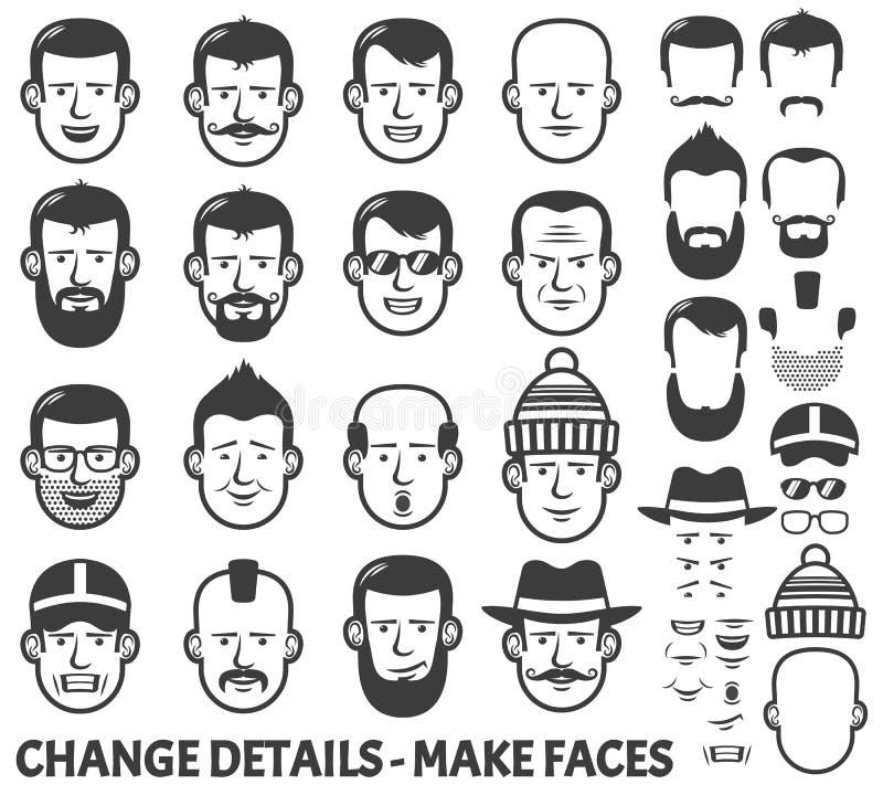 Constructeur de visage illustration de vecteur