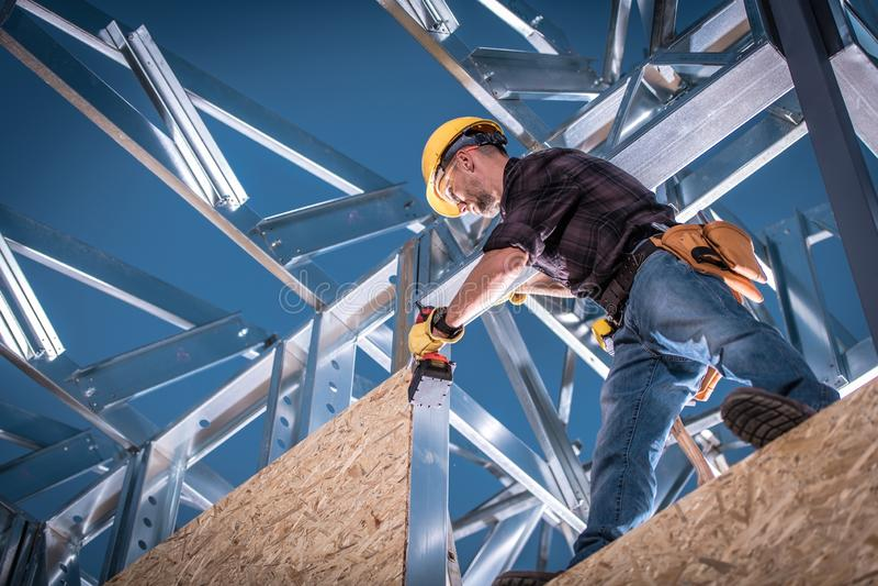 Constructeur en acier de Chambre photo libre de droits