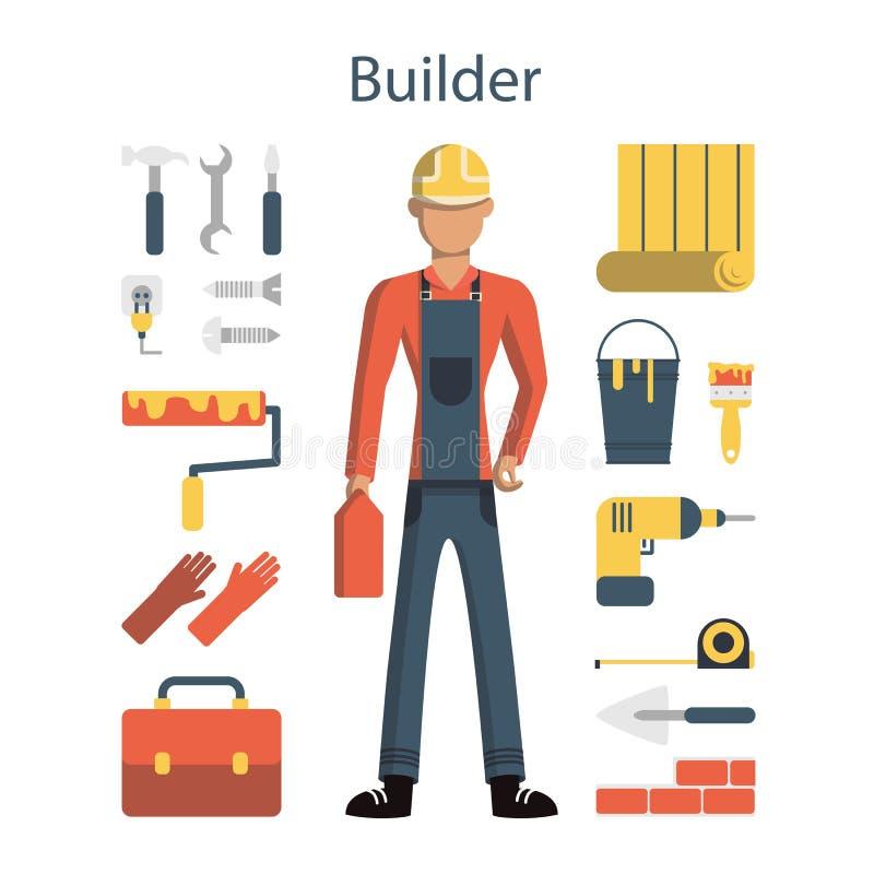 Constructeur masculin illustration libre de droits