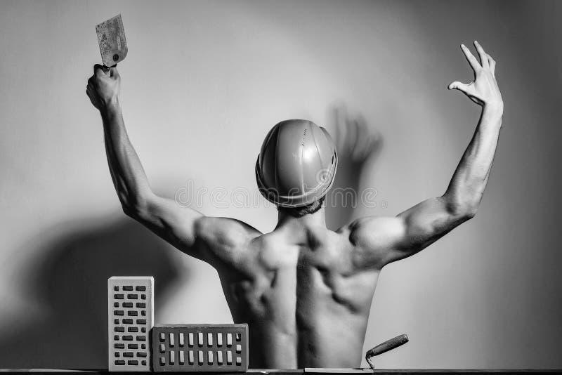 Constructeur musculaire sexy d'homme images libres de droits