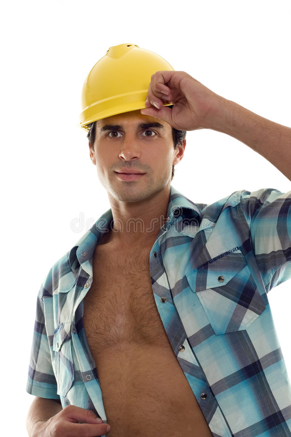 Constructeur ou marchand image libre de droits