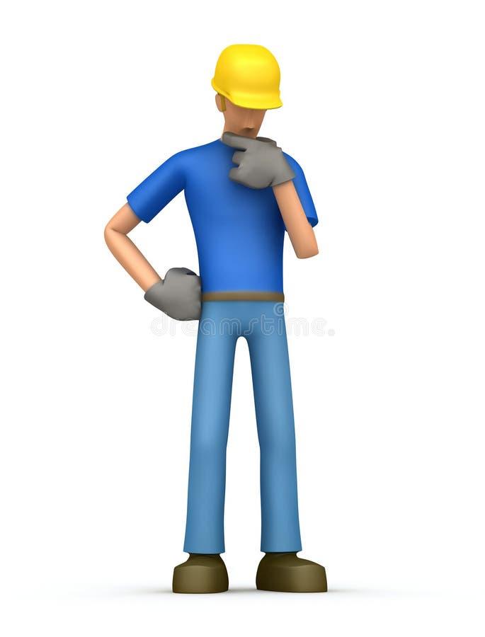 Constructeur songeur illustration de vecteur