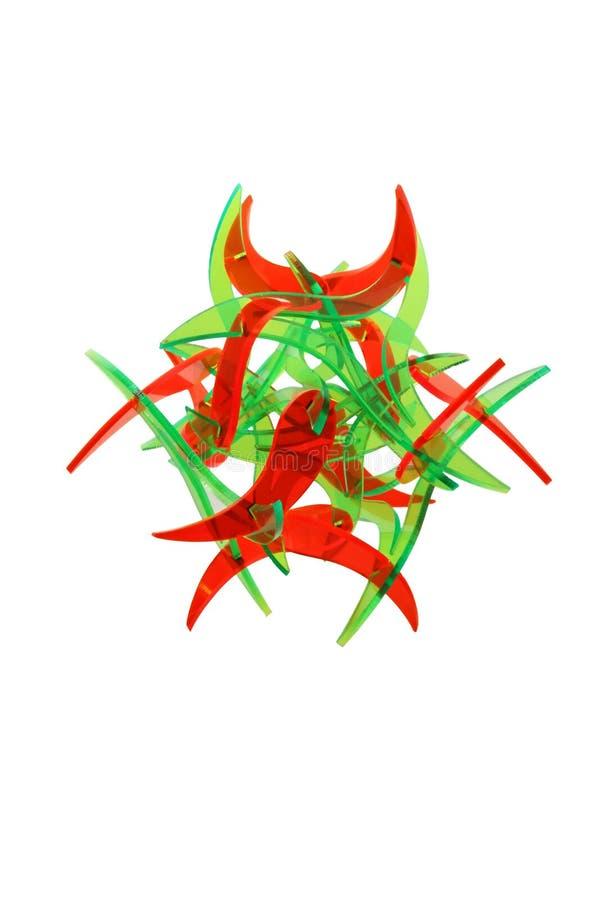 Constructeur vert rouge abstrait d'isolement photos libres de droits